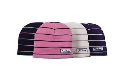 7b026b6649 TITLEIST WOMENS GOLF Striped Winter Beanie Hat - Multiple Colors New ...