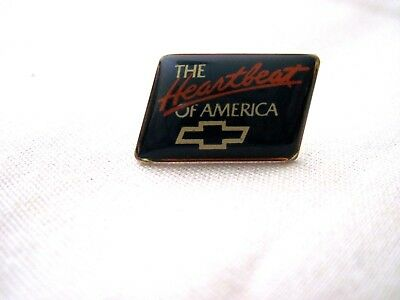 Vintage Chevrolet The Heartbeat Of America  Chevy Enamel Hat Pin,lapel Pin