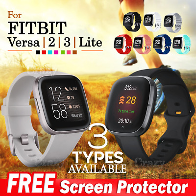 For Fitbit Versa Replacement Silicone Watch Wrist Sports Band Strap Wristband AU