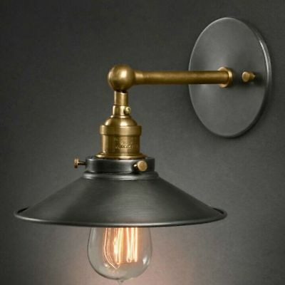 Antique Wall Lamp American Style Bedside Single-Head Living Room Vintage Lights