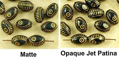 8pcs Black Gold Wash Evil Eye Egyptian Revival Mediterranean Talisman Marine Fis