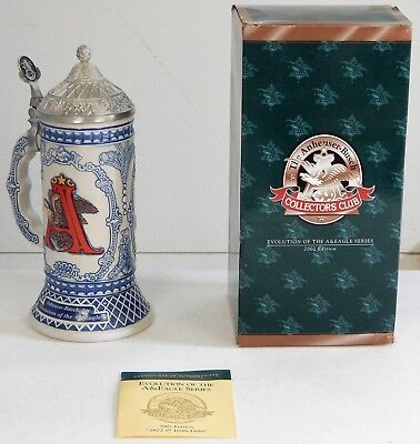 """Budweiser 2002 Evolution of the A&Eagle Series """"1872 and 1886-1889"""" Stein CB23"""