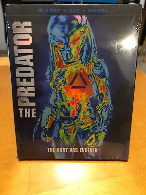 THE PREDATOR 2018 Blu-Ray + DVD + Digital TARGET EXCLUSIVE 36-PAGE BOOK