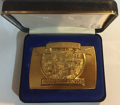John Deere Two Millionth 1992 Gold Plated Belt Buckle