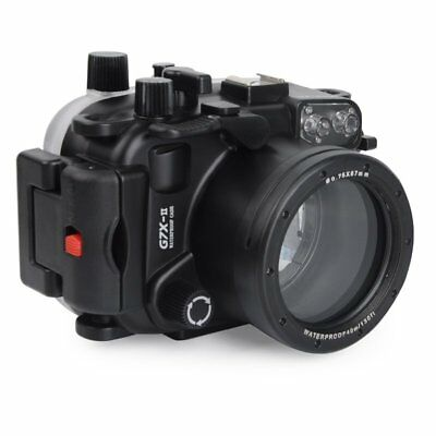 40m 130ft Underwater Diving Waterproof Camera Housing Case Cover For Canon G7XII