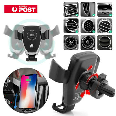 Qi Wireless Fast Charger  For iPhone 8X Samsung S8 Android Car Phone Holder YK66