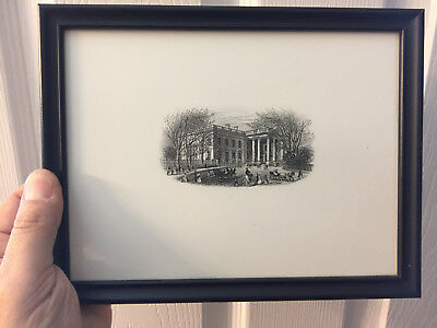 Nicely Vintage framed Engraving of the White House  See photos #2