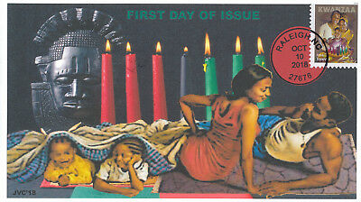 Jvc Cachets -2018 Kwanzaa Issue First Day Cover Fdc Holiday Design #1