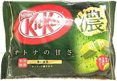 Nestle Kit Kat Chocolate Strong Rich Taste Green Tea Uji Matcha 12Bar 1Bag JAPAN