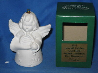 Goebel Angel Bell Tree Ornament White 7th Edition 1982 Annual Christmas Germany