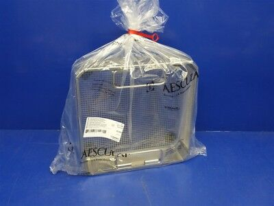 Aesculap Sterilization Basket Stainless 1/2 Size Mesh Tray with Handles JF113R