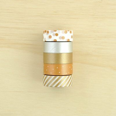 Kaisercraft Printed Tape - Clink Bronze Foil Washi Tape for Planner