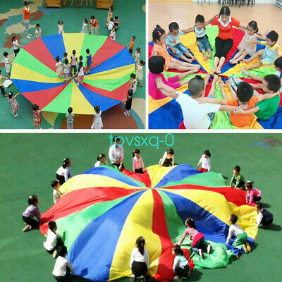 Kids Play Parachute Large Children Rainbow Outdoor Game Exercise Sport Toy