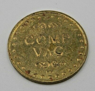 Vintage Coin Token COMP VAC by HM Car Wash Comp Vacuum