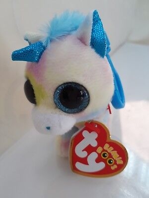 5f87d78d197 Ty Beanie Boo BLITZ Unicorn Keyring Clip Decoration.Original Ty with Tags.