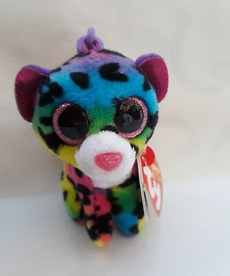 40ba54efa52 Ty Beanie Boo DOTTY the Leopard Keyring Clip Decoration.Original Ty with  Tags