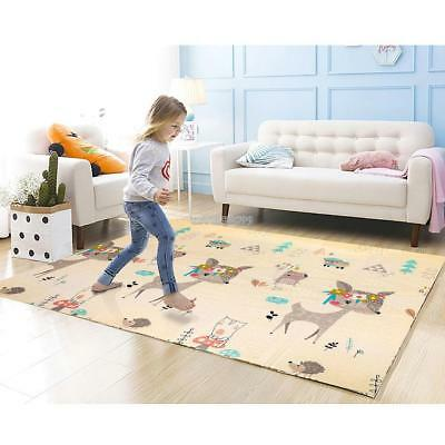 Soft XPE Baby Kids Game Gym Activity Play Mat Crawling Blanket Floor Rug Folding