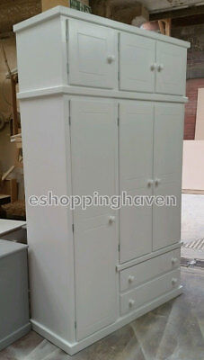 Handmade Winchester White Single Lady,gent+Top Box Wardrobe (Assembled)