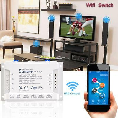 RC Sonoff 4CH Pro 4 Way 3Models Mounting WiFI Wireless Smart Switch 433MHZ