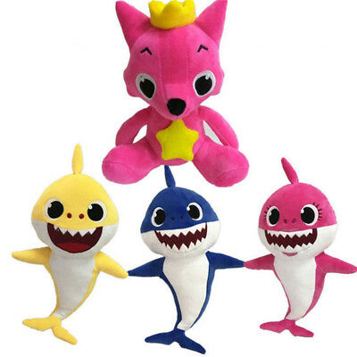 Cartoon PinkFong Plush Toys Fox Sharks Dolls Children Baby Animal Kids Gifts