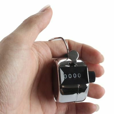 4 Digit Mechanical Manual Clicker Click Hand Tally Counter Counting Number Click