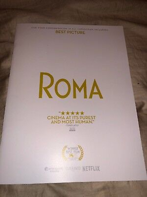 ROMA Film Promotional PRESS BOOK 2018 28 page FOR YOUR CONSIDERATION FYC Oscar