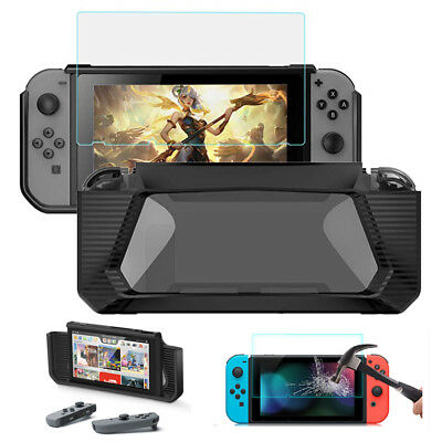 For Nintendo Switch Shockproof Protective Rugged Rubberized Hard Case Cover+Film