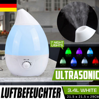 3.4L Aroma-Licht-Diffuser Ultraschall-Luftbefeuchter, 7 LED Farben, Humidifier