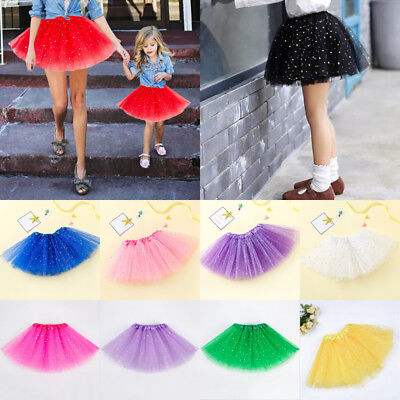 US Princess Women Girls Tutu Dancewear Skirt Dress Up Fancy Party Ballet Dance