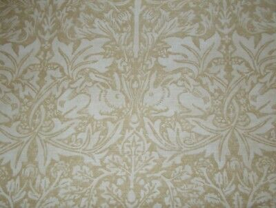 William Morris Curtain Fabric 'BRER RABBIT' 0.9 METRES Manilla/Ivory - Linen Mix