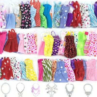 30 ITEMS FOR BARBIE DOLL DRESSES, SHOES,JEWELLERY CLOTHES SET ACCESSORIES Random