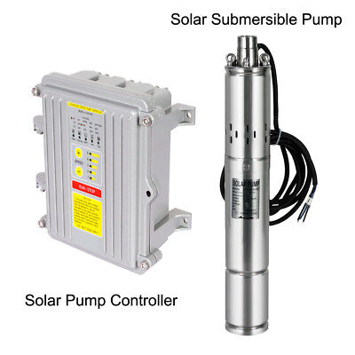 3 Inch Solar Deep Well Submersible Water Pump With Controller,DC 12/24V,140/400W