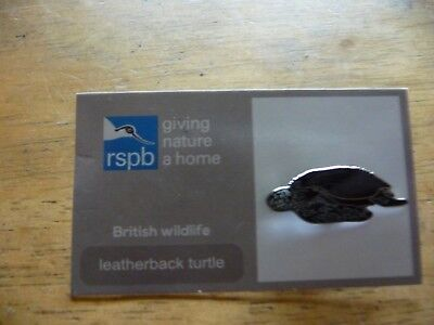 "SAME DAY DISPATCH !! Brand New /""RSPB/"" LEATHERBACK TURTLE Pin Badge"