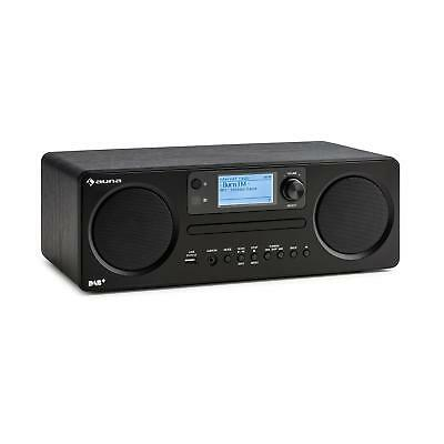 Auna Worldwide CD Speler Internet Radio Bluetooth Spotify Wekkerradio Zwart
