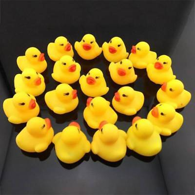 20/40/60x Kids Baby Mini Yellow Bathtime Rubber Duck Bath Toy Squeaky Water Play