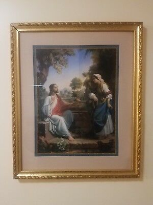 Home Interiors Wall Picture Frame Jesus & The Samaritan Woman By Well - Missman