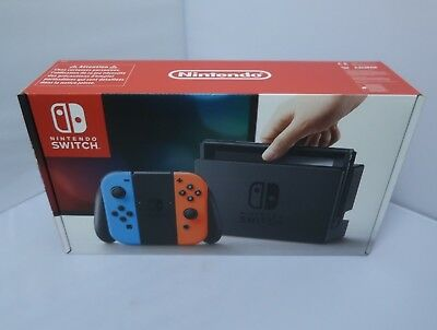 NINTENDO SWITCH - CONSOLA PORTATIL- 32GB BLUETOOTH azul/roja + dos mandos NUEVA