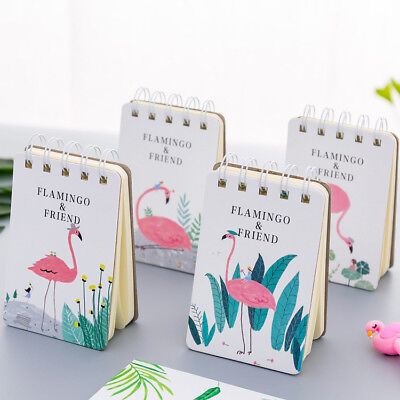 """""""Flamingo Friend"""" 1pc Pocket Diary Small Notebook Memo Journal Coil Spiral Cute"""