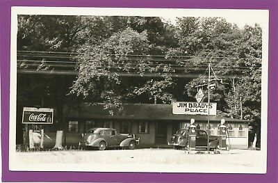 Rare '30's RPPC Brady's Place, Sunoco, Yuenglings , Coke, Beer Signs, Cars, PA ?