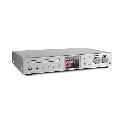 HiFi-ontvanger iTuner Internetradio DAB+ FM WiFi USB CD Spotify Connect Zilver