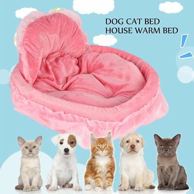 Pet Dog Puppy Princess Bows Lace Heart Elegant Lovely Bed Doghouse AZ