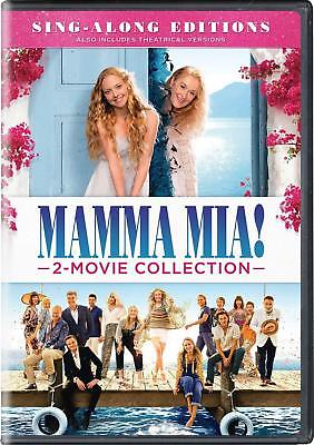 Mamma Mia & Here We Go Again 1-2 Movie Collection Sing Along Edition DVD Box Set