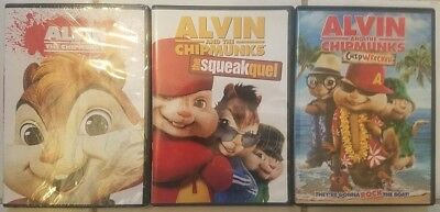 Alvin & The Chipmunks DVDs: The Squeakquel, Chipwrecked. CHOOSE & Combine Ship!!