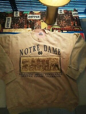 Vintage Nutmeg Mills University Of Notre Dame Fighting Irish Sweatshirt Crewneck