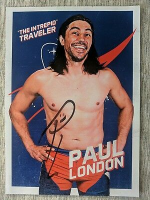 Paul London Hand Signed wrestling Photograph Picture 8X10 WWE WWF