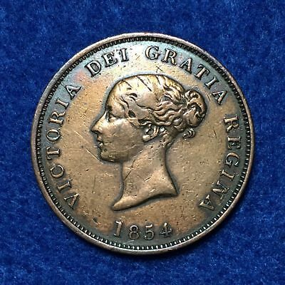 1854 New Brunswick One Penny Currency Coin, NO TAX