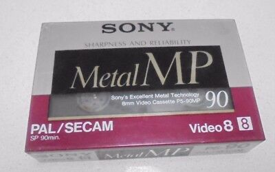 8 mm Video Cassette camera Tape Sony Metal MP P5-90 - 8mm - 90 minute  New