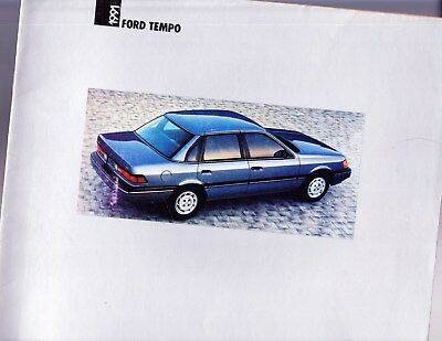1991 FORD TEMPO   Factory Original Sales Brochure   16 Pages