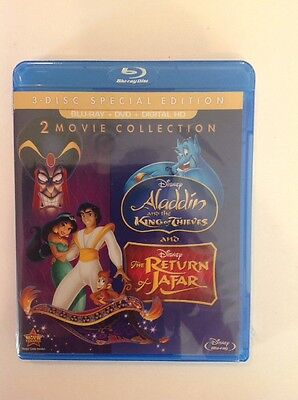 Aladdin-King of Thieves & The Return of Jafar (Blu-ray+DVD+Digital)NEW Authentic