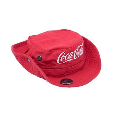 Coca-Cola Bucket Hat Red With Bottle Opener & Embroidered Script